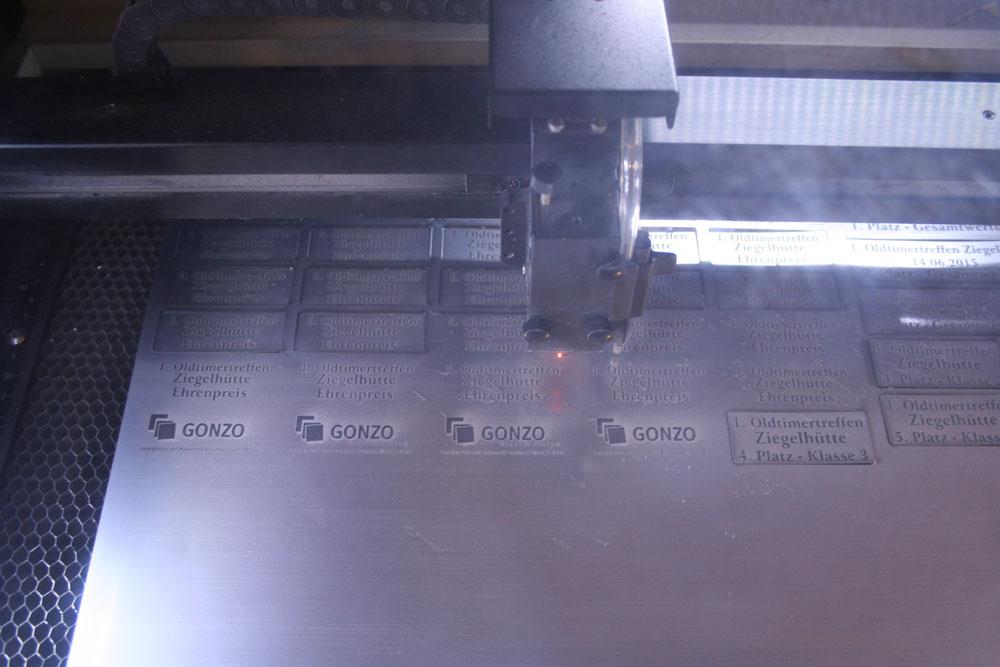 Lasergravur Gonzo Design